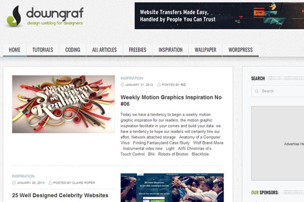 website layout designs downgraf blog magazine posts