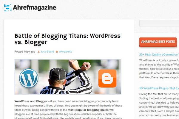 ahref web design magazine online wordpress inspiration