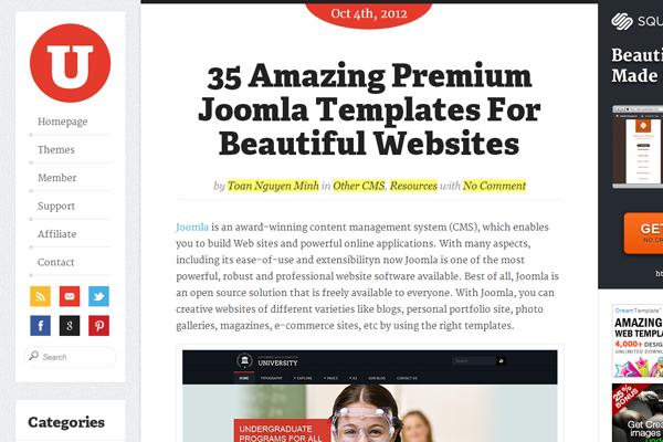 magazine blog uxde website interface inspiration