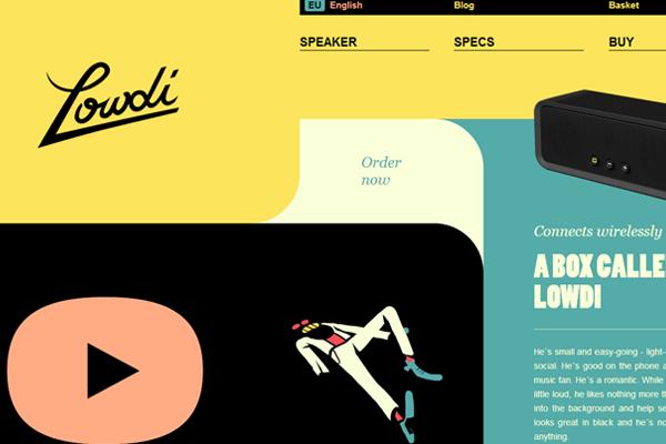 flat website layout design interface