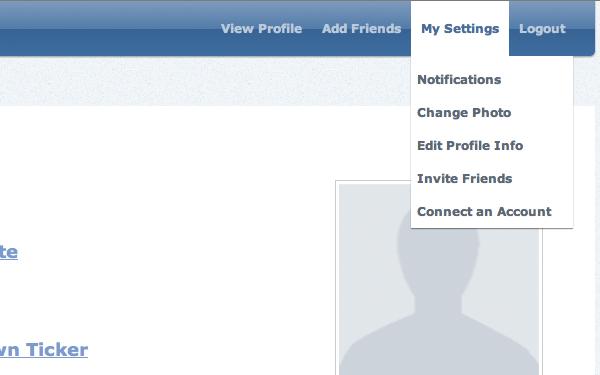 user settings dropdown menu tutorial