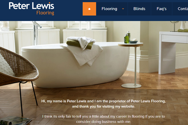 interface peter lewis flooring website flat