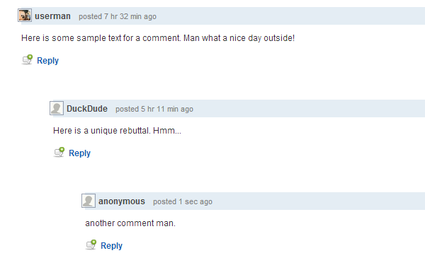 jquery animating threaded comments website