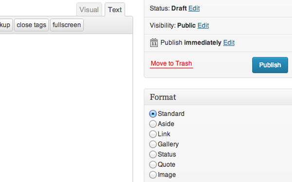 tutorial how to customize post formatting