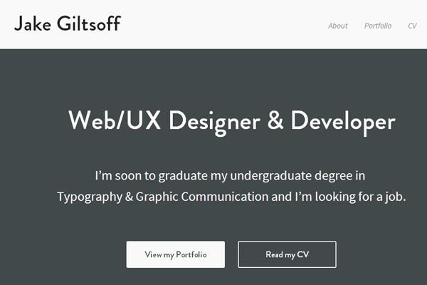 web ui ux designer portfolio flat website