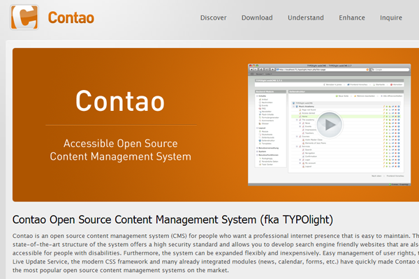 contao website cms open source project