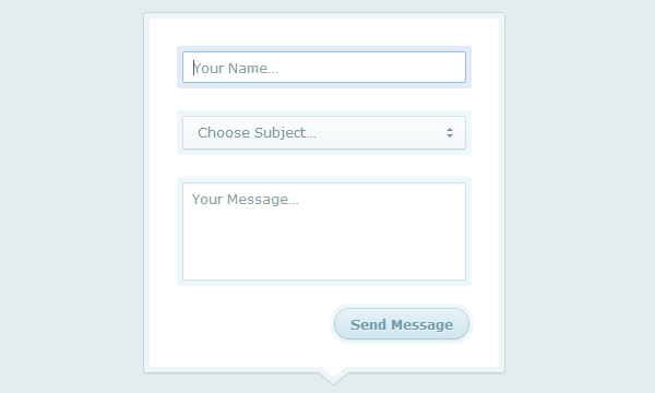 bright modal contact form input effects css3