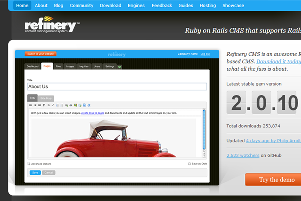 alternate ruby on rails cms project open source