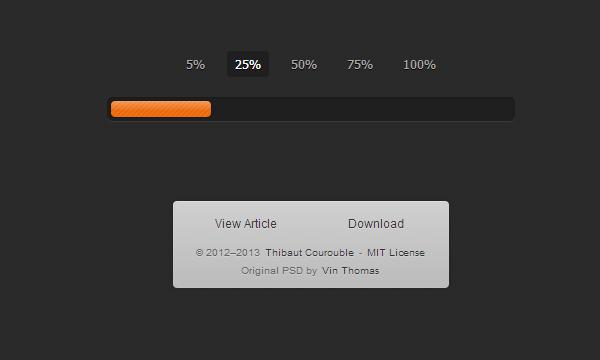 css3 animated progress bar interface ui
