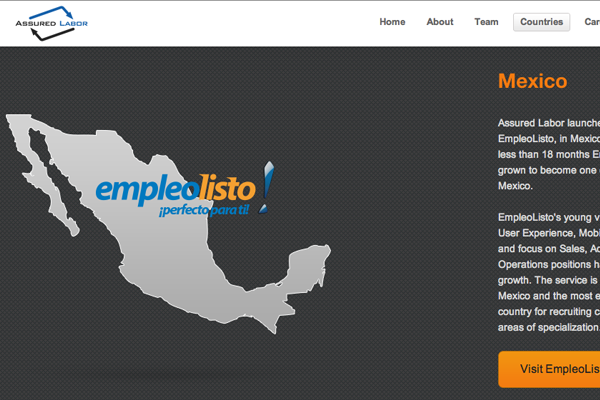 assured labor website ui interface layout inspiration