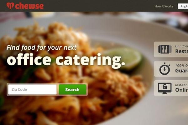 chewse website layout interface background images