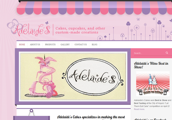 new jersey cake shop bakery website layout