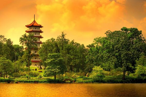 chinese gardens structure quiet singapore landscape