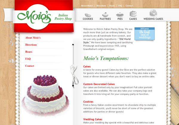 moio italian italy pastry sweets bakery website