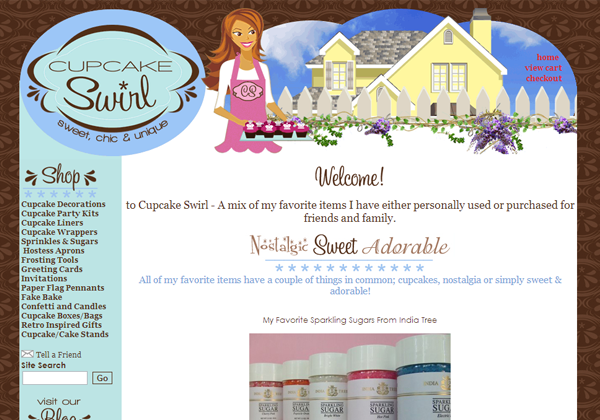 cupcake swirl bake sweets bakery website layout