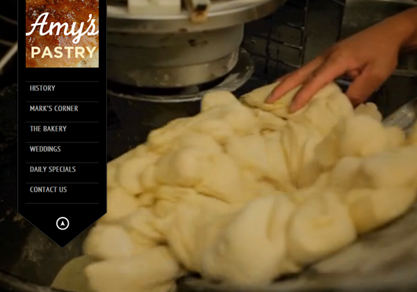 amys pastry website ui design layouts inspiring