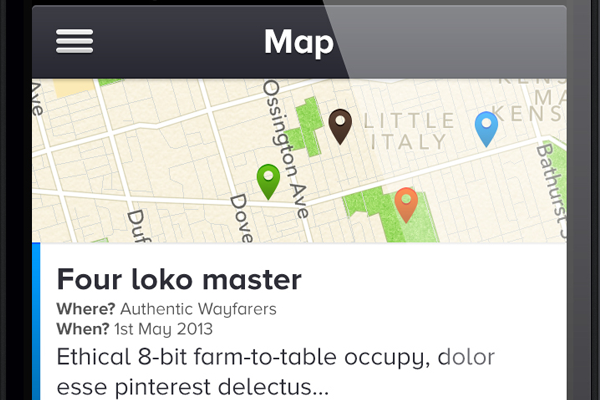 map pins marker ios iphone app design