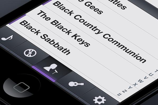 music ios app ui tabbar uitabbar interface design