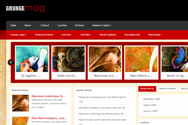 dark wordpress premium theme grungemag layout