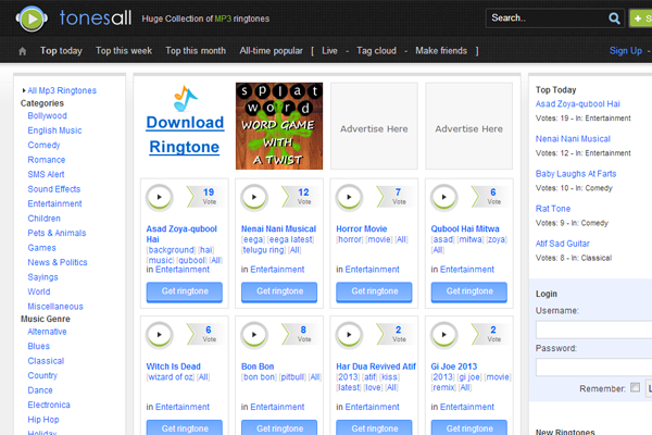 pligg cms startup tonesall music mp3 ranking