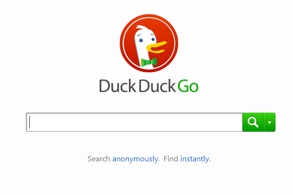 search engine duckduckgo homepage branding logo