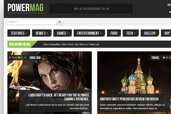 magazine wordpress theme powermag design