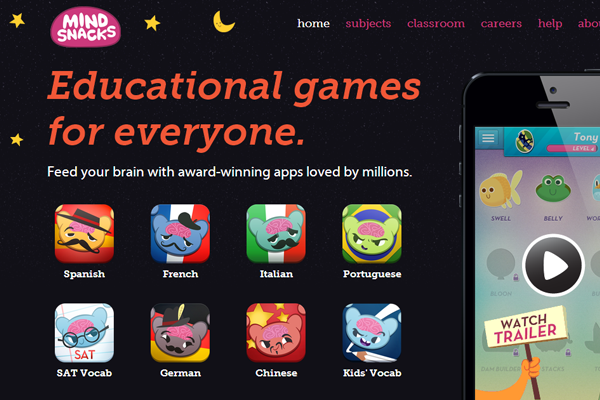 online gaming experience mindsnacks website layout ios