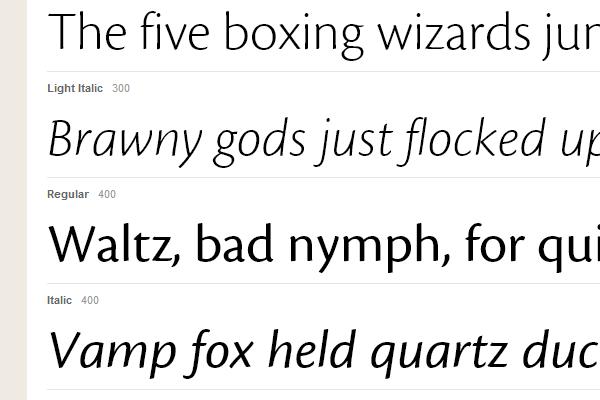 webfont typekit gallery inspiration cronospro sans-serif