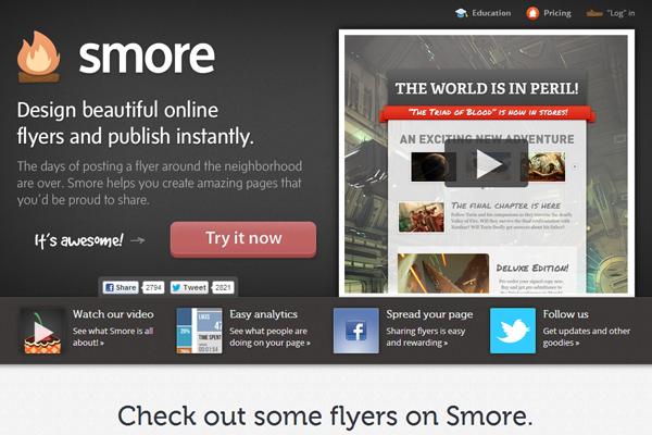 campfire branding logo smore dark website