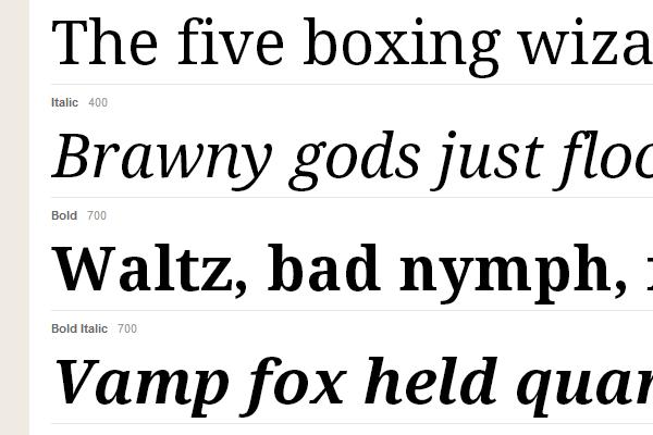 serif droid typekit webfont gallery