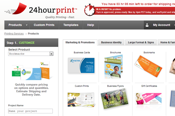 24 hour print services online website layout