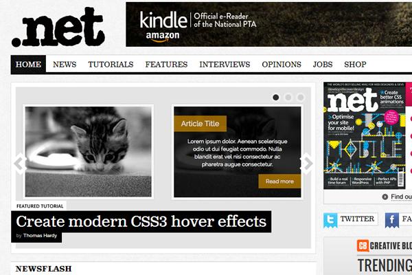 dot net magazine webdesign articles logo homepage