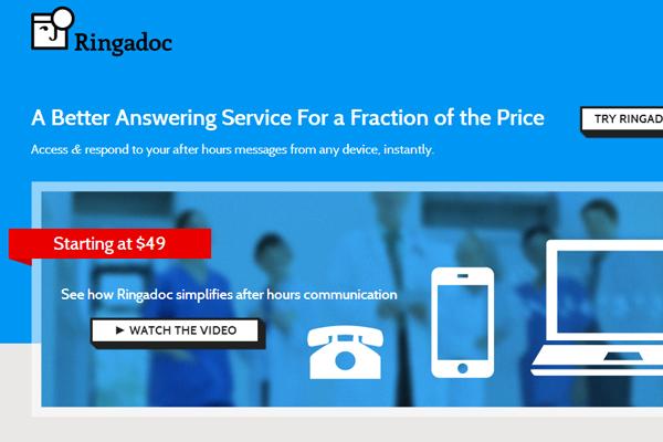 doctor after hour calls ringadoc startup branding logo