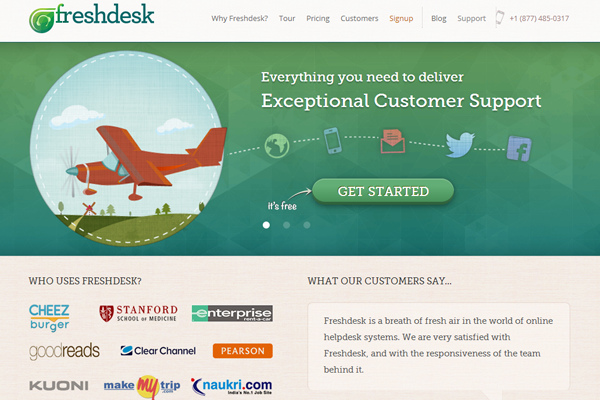 homepage layout web design inspiration freshdesk logo
