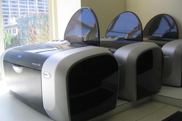 dead graveyard printers near window technology