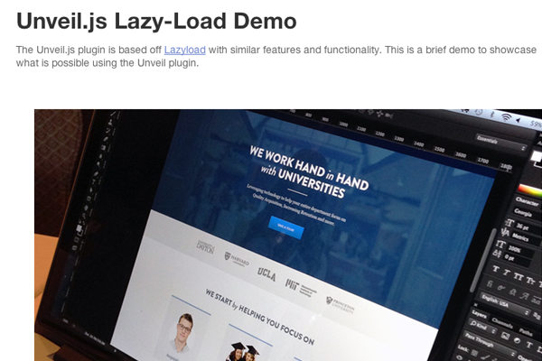 designmag jquery tutorial preview lazyload images plugin