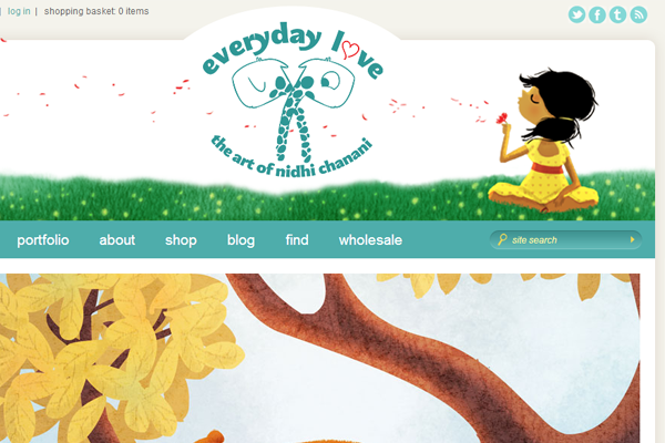 nidhi chanani illustration portfolio website layout