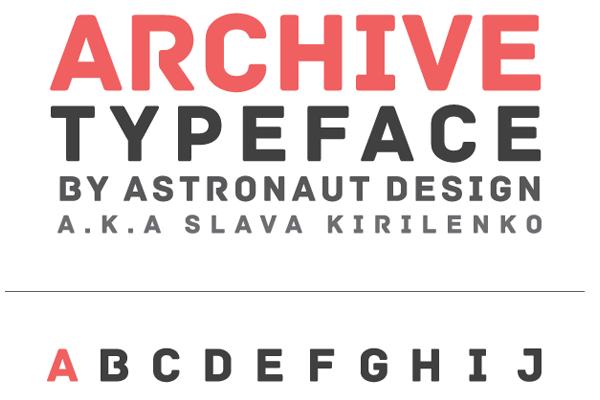 typeface archive sanserif dark lettering
