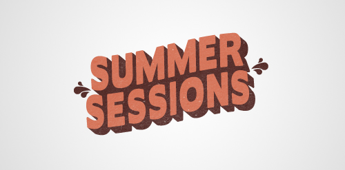 summer logo big text design typography