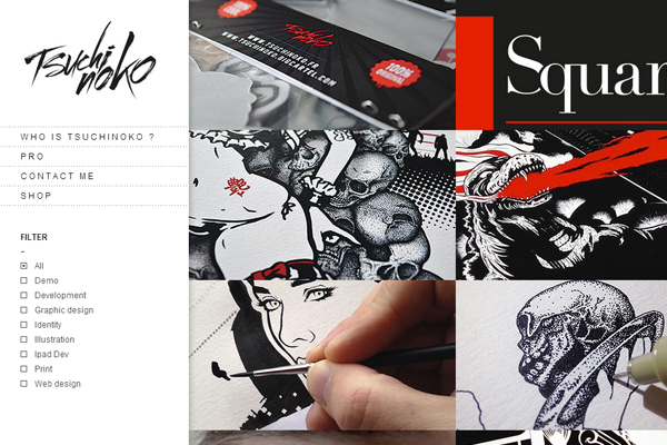 tsuchi noko portfolio designer website