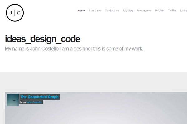 john costello designer website layout