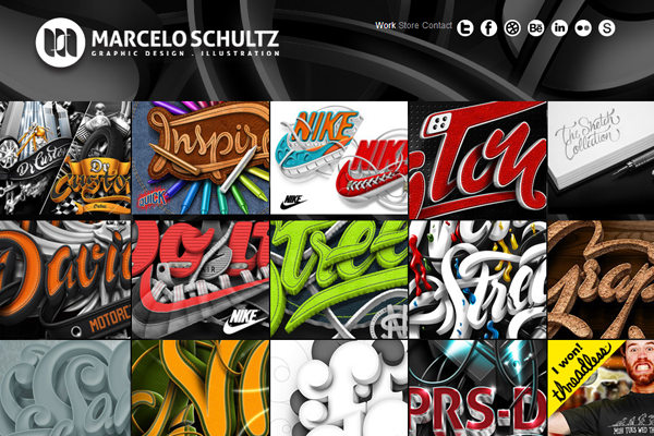 marcelo shultz portfolio website layout