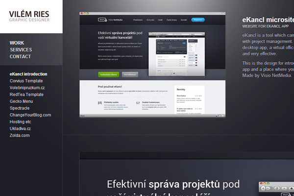graphic designer portfolio website vilem ries