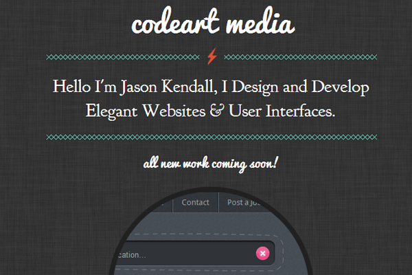 codeart studio website portfolio jason kendall