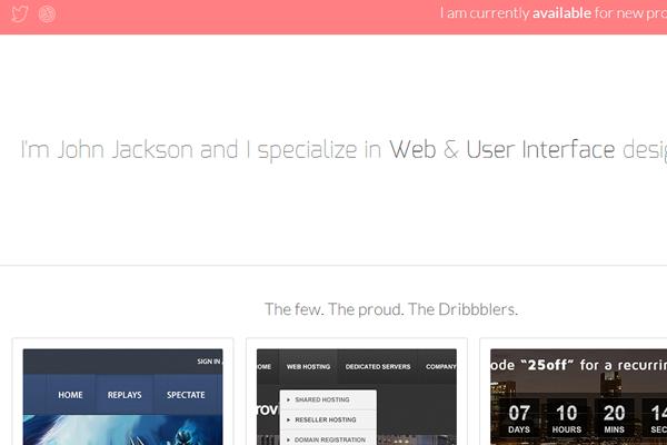 john jackson website portfolio designer