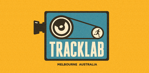 tracklab film movie camera logo design