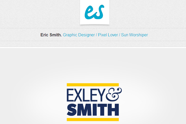 eric smith flat portfolio website
