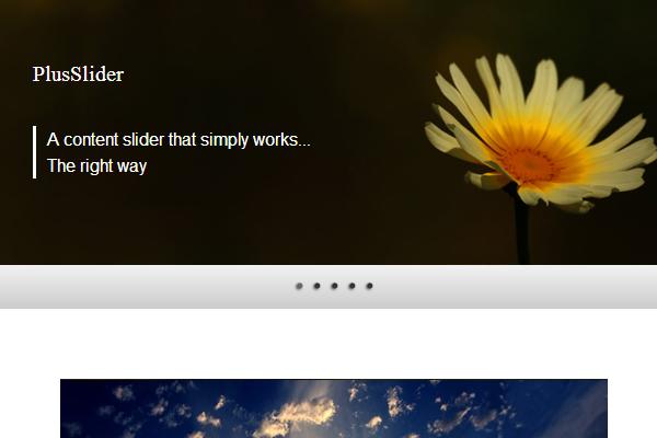 Plus Slider jquery slideshow plugin