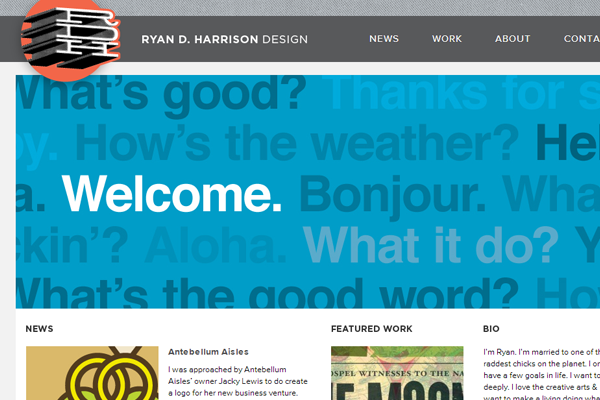 ryan harrison website portfolio designer