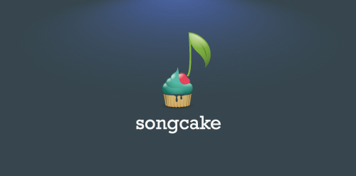 cupcake song music streaming logo design